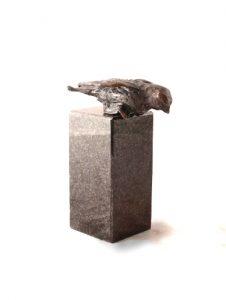 beeld vogeltje op graniet
