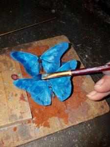patineren vlinder Davinci opbrengen patina