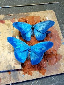 patineren vlinder Davinci laatste laag